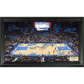 Oklahoma City Thunder Signature Court Framed Photo