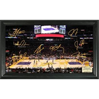 Los Angeles Lakers Signature Court Framed Team Photo