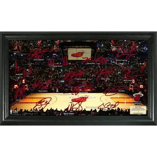 Miami Heat Signature Court Framed Team Photo