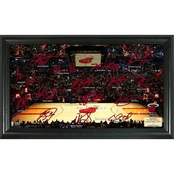 Miami Heat Signature Court Framed Team Photo