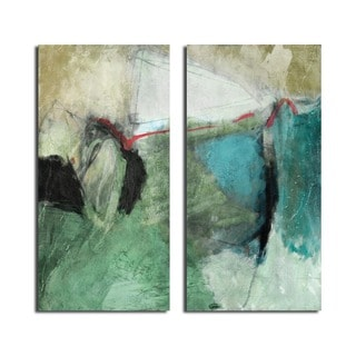 Alexis Bueno 'Smash V' 2-piece Oversized Canvas Wall Art