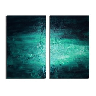 Alexis Bueno 'Smash VIIII' Oversized 2-piece Canvas Wall Art