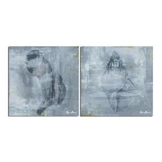 Alexis Bueno 'Modern Shells' 2-piece Canvas Wall Art