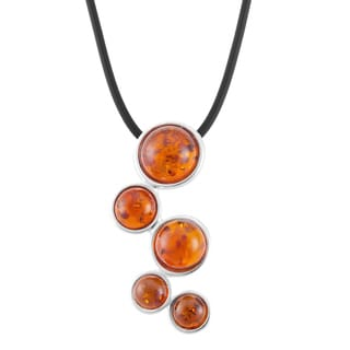 Sterling Silver Amber Bubbles Necklace (Poland)