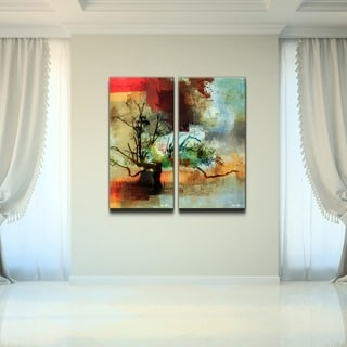 Alexis Bueno 'Abstract Landscape I' 2-piece Oversized Canvas Wall Art