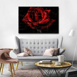 Alexis Bueno 'Roses are Red IV' Canvas Wall Art