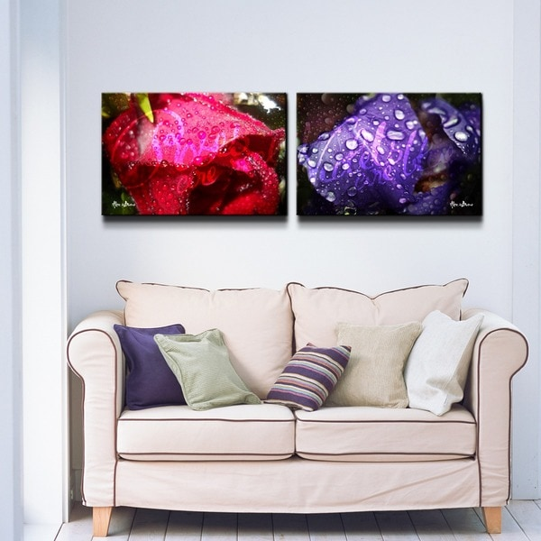 Alexis Bueno 'Roses are Red, Violets are Blue' 2-piece Canvas Wall Art