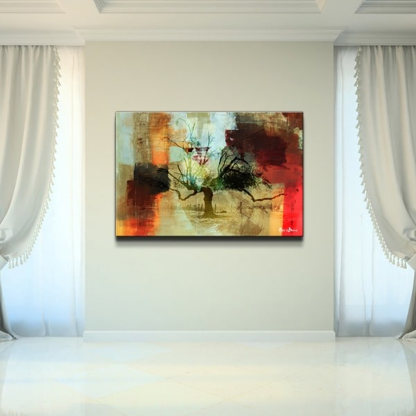 Alexis Bueno 'Abstract Landscape II' Oversized Canvas Wall Art