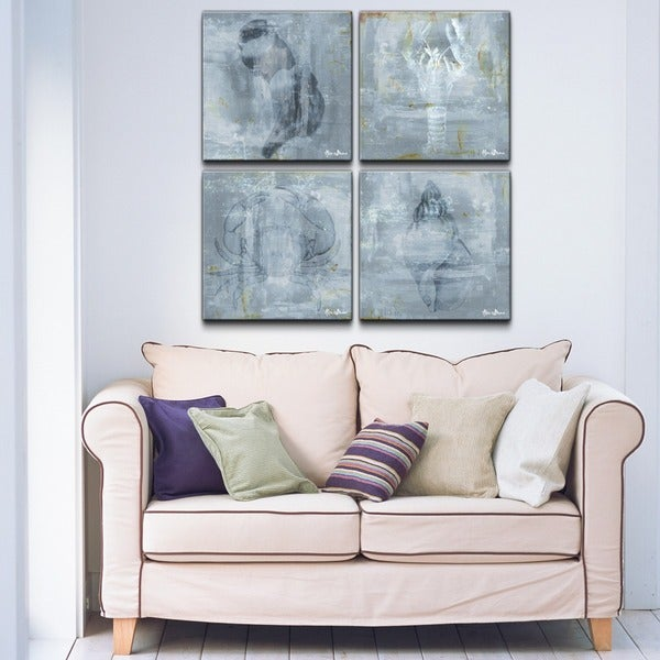 Alexis Bueno 'Nautical' 4-piece Canvas Wall Art
