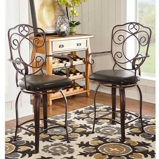 Oh! Home Swirls & Twirls Counter Stool, Dark Brown PVC