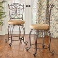 Gathered Back Counter Stool