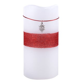 LED Snowflake Charm Flameless Candle