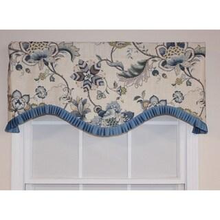 RLF Home Porcelain Cotton 16-inch Portobello Cornice Valance
