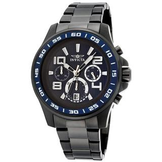 Invicta Men's Specialty Quartz Chronograph Watch with Blue Dial