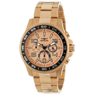 Invicta Men's Specialty Quartz Gold Chronograph Watch