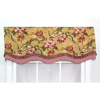 RLF Home Tea Stain Cotton 16-inch Malibu Palm Glory Valance