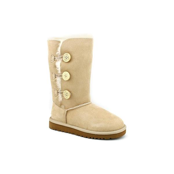 Ugg Australia Girl (Youth) 'Bailey Button Triplet' Tan Regular Suede Boots