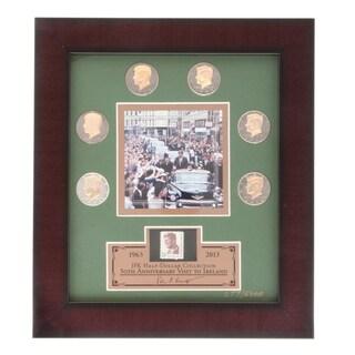 Franklin Mint JFK Half-dollar Coins with Framed Lithograph Print