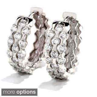 Sonia Bitton Platinum, Gold or Rose Gold Plated Sterling Silver Cubic Zirconia Earrings