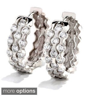 Sonia Bitton Platinum, Gold or Rose Goldplated Sterling Silver Cubic Zirconia Earrings