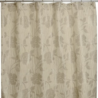 Marchesa Stone Embroidered Shower Curtain & Liner