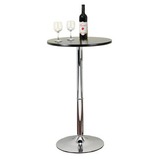 Casa Cortes Chrome/ Matte Black Bar-height Pub Table