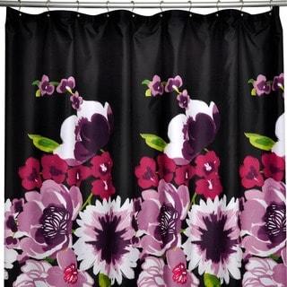Milena Microfiber Floral Shower Curtain