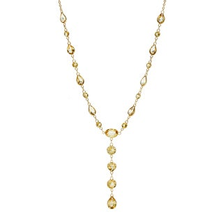 14k Yellow Gold Citrine Necklace