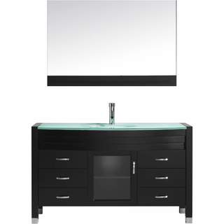 Virtu USA 'Ava' 55-inch Espresso Single Sink Vanity