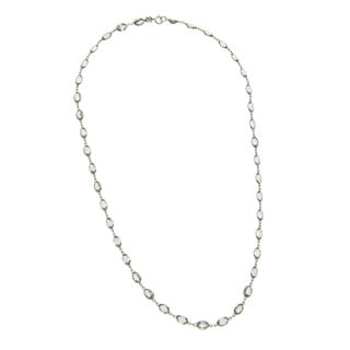 14k Light Green Amethyst Necklace