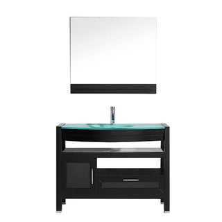 Virtu USA 'Lana' 43-inch Espresso/ Tempered Glass Single Sink Vanity
