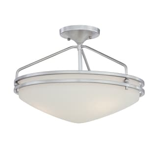 Ozark 3-light Polished Chrome Semi-Flush Mount