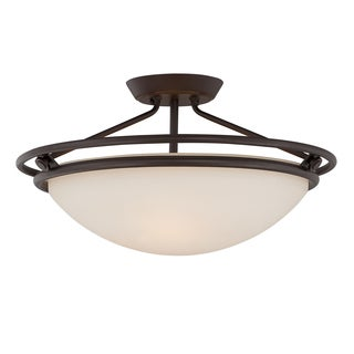 Quoizel 3-light Western Bronze Semi-Flush Mount