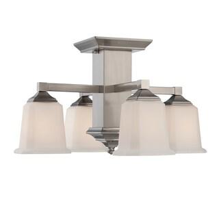 Quoizel Fixture 4-light Brushed Nickel Semi-Flush Mount