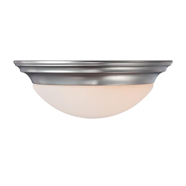 Summit 2-light Brushed Nickel Flush Mount
