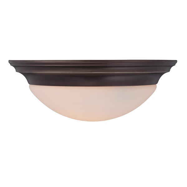 Summit 2-light Palladian Bronze Flush Mount