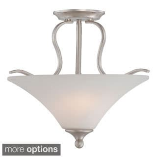 Sophia 2-light Brushed Nichel Semi-Flush Mount