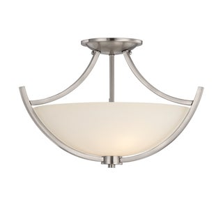 Tucker 3-light Brushed Nickel Semi-Flush Mount