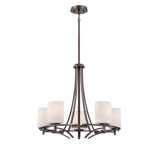 Parkston 5-light Powder Grey Chandelier