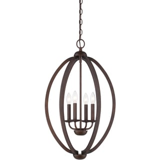 Quoizel Fixture 4-light Museum Bronze Cage Chandelier
