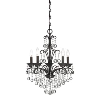 Quoizel Fixture 5-light French Bronze Mini Chandelier