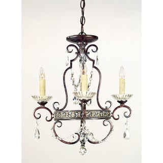 Quoizel Fixture 4-light Royal Bronze Mini Chandelier