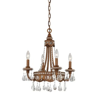 Quoizel Fixture 4-light Bolivian Bronze Mini Chandelier