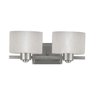 Pacifica 2-light Empire Silver Bath Fixture