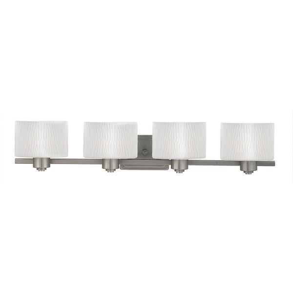 Pacifica 4-light Empire Silver Bath Fixture