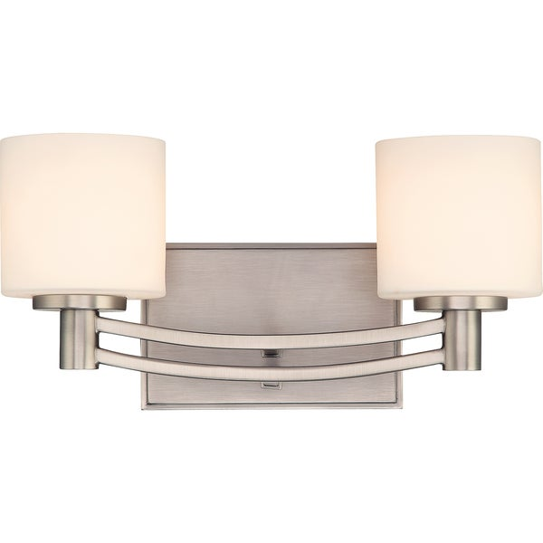 Perry 2-light Antique Nickel Bath Fixture