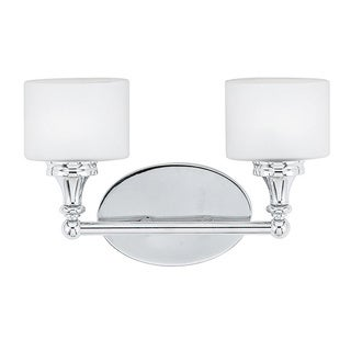 Quinton 2-light Polished Chrome Bath Fixture