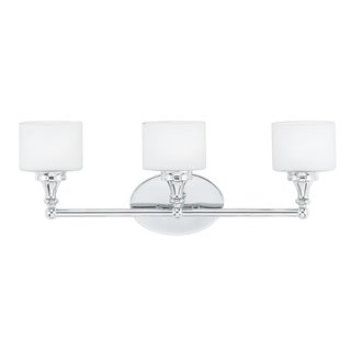 Quinton 3-light Polished Chrome Bath Fixture