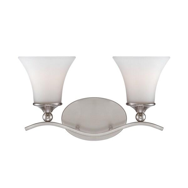 Sophia 2-light Brushed Nickel Bath Fixture