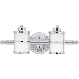 Tranquil Bay 2-light Polished Chrome Bath Fixture